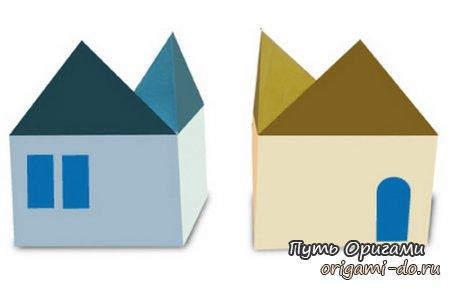 Простой домик – оригами для