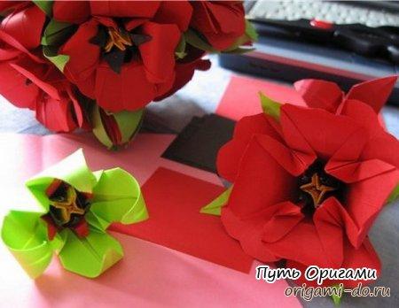 Любимым женщинам – оригами на 8 марта