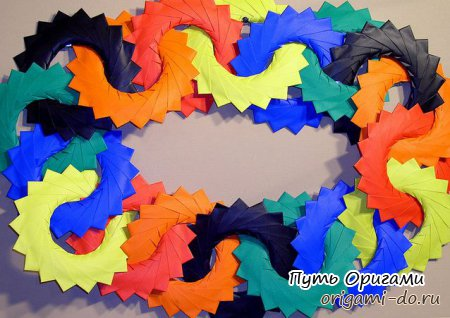 Кольцо оригами из модулей