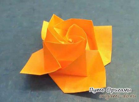 Оригами роза от Акиры Йошизавы