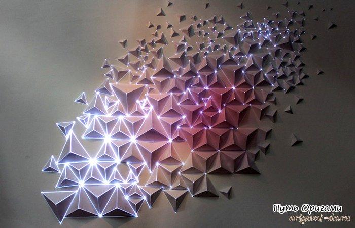 Арт-проекты в стиле оригами от