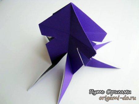 Схема осьминог оригами