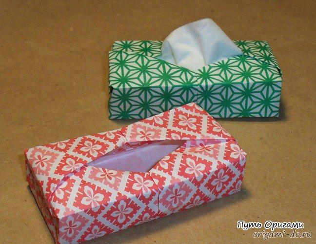 Оригами коробочка для салфеток