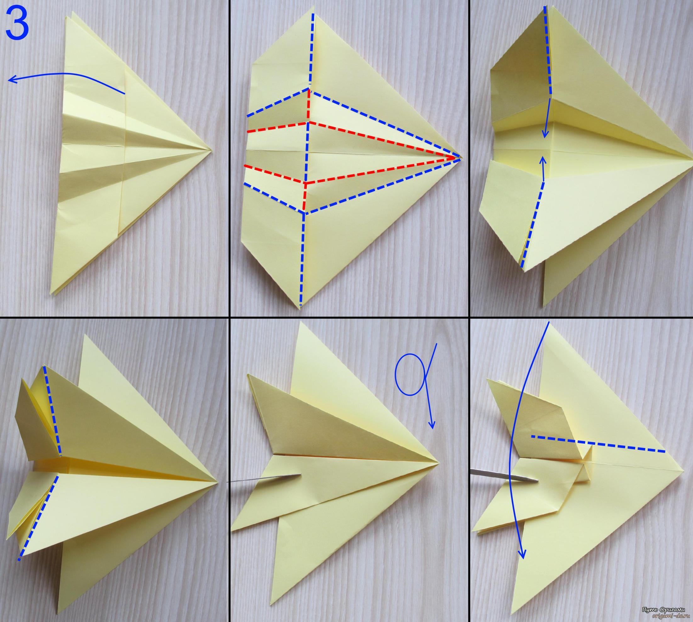 Оригами для детей истребитель