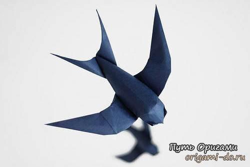 созданию ласточки оригами