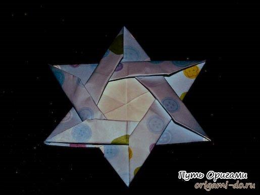 Оригами сборка звезды Давида