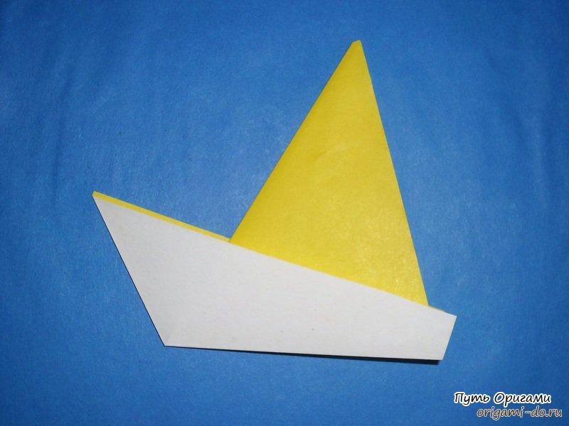 Оригами кораблик для юного