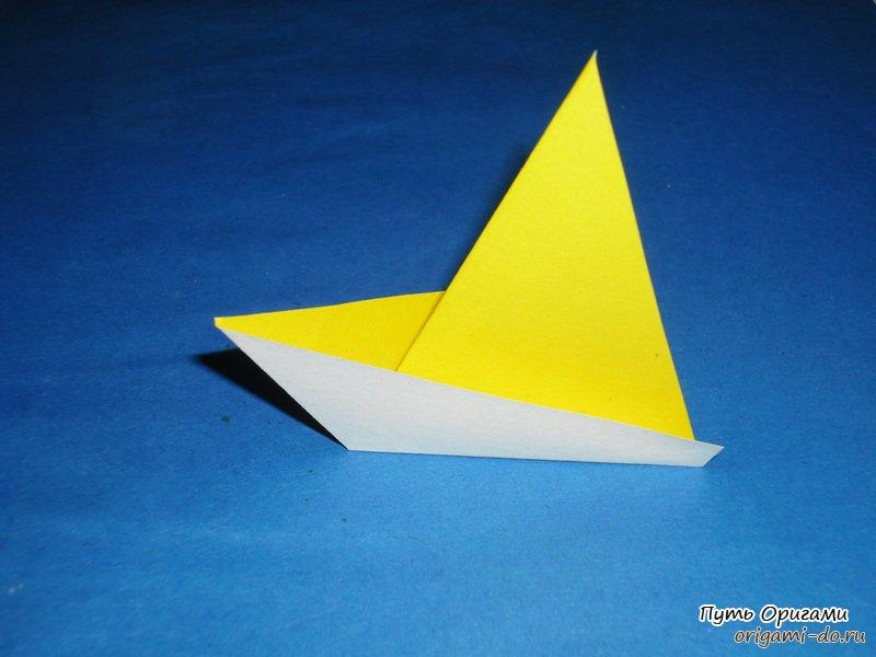 Лёгкий оригами кораблик