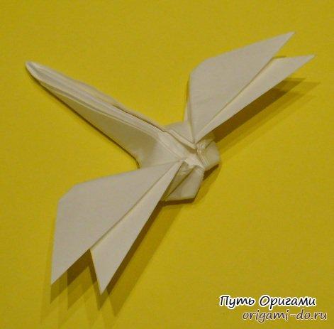 Как сделать оригами стрекозу