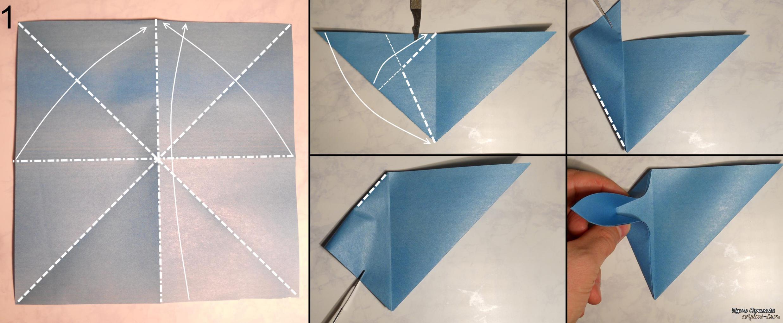 Оригами стрекоза схемы для начинающих