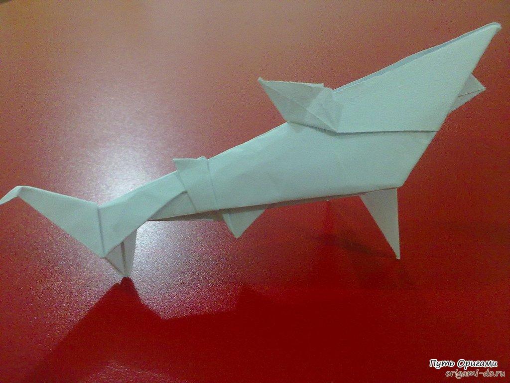 Поделки акула из бумаги 41