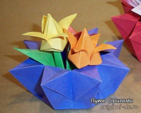 что эта оригами корзинка