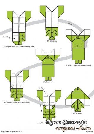 из бумаги – оригами схема