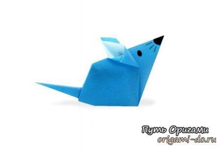 Бумажный мышонок – оригами для