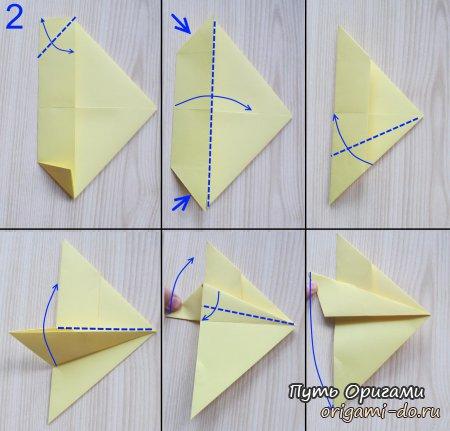 Истребитель f15 в технике оригами