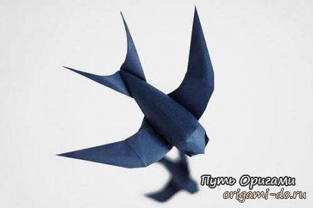 Мастер класс по созданию ласточки оригами