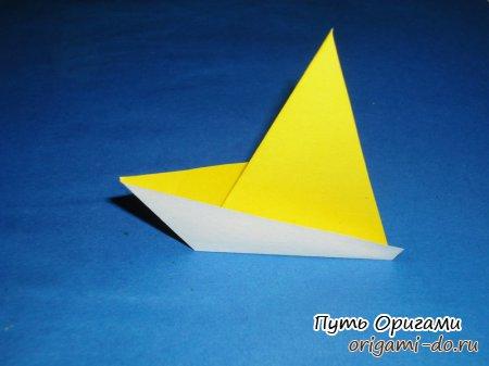 Оригами кораблик для юного капитана