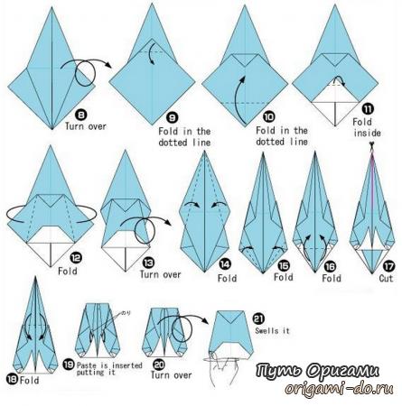 Как сделать оригами ранец