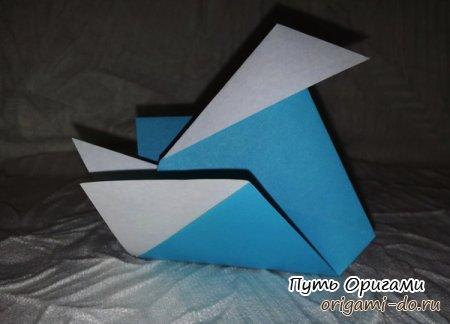 Утка оригами для начинающих