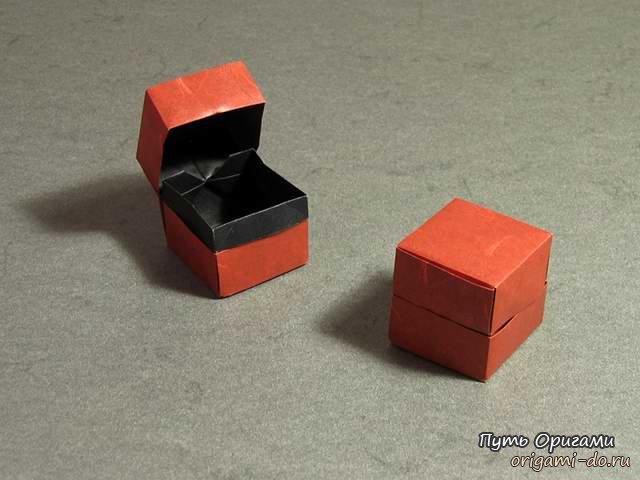 Оригами сборка коробочки с