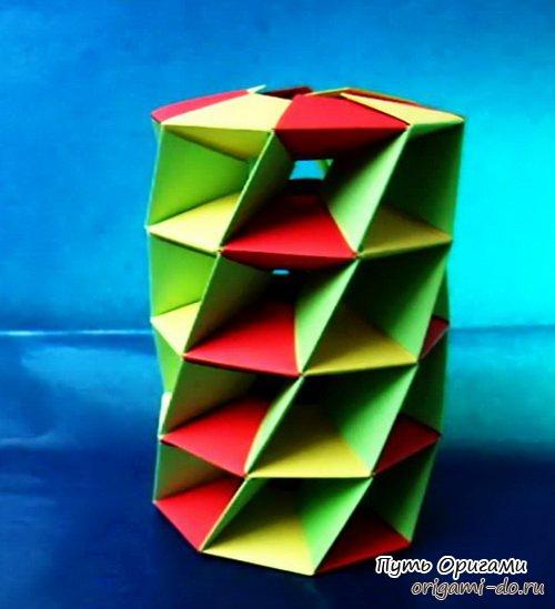 Башня оригами от Mihoko