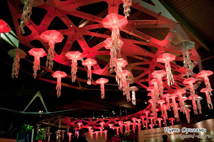 Медузы оригами от Джозефа Ву