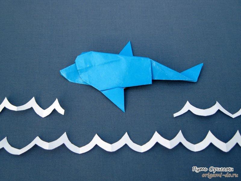дельфина. Оригами схема