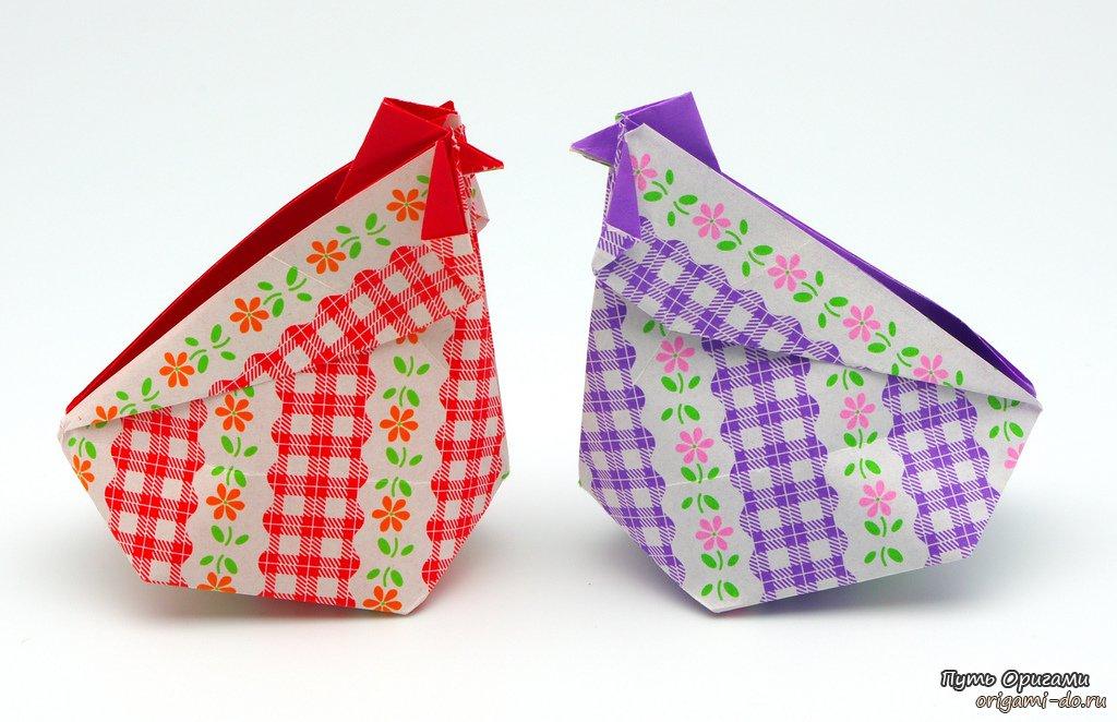 оригами коробочку «Петух