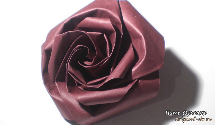 Оригами схема по сборке розы