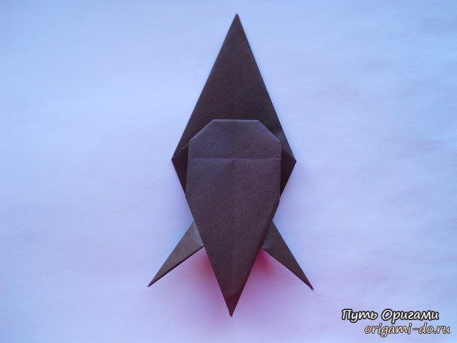 Оригами схема по сборке попугая Кеа.