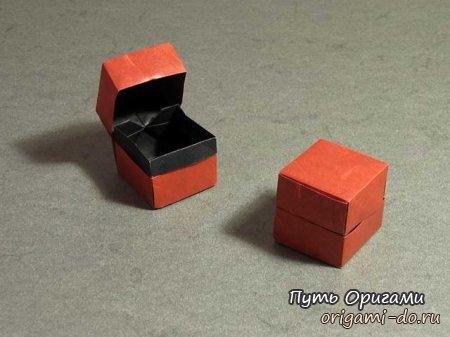 Оригами сборка коробочки с крышкой