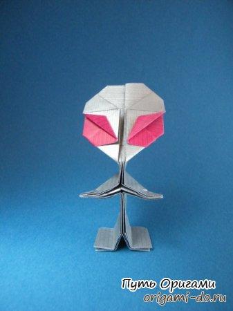 Оригами инопланетный человечек