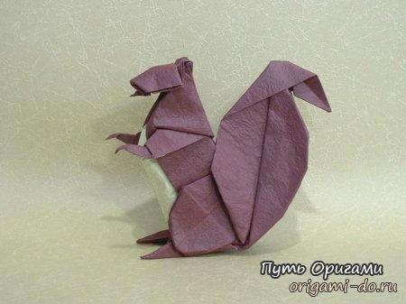 Оригами видео по сборке белки