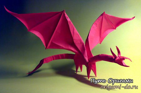 Simple Dragon от оригамиста Shuki Kato