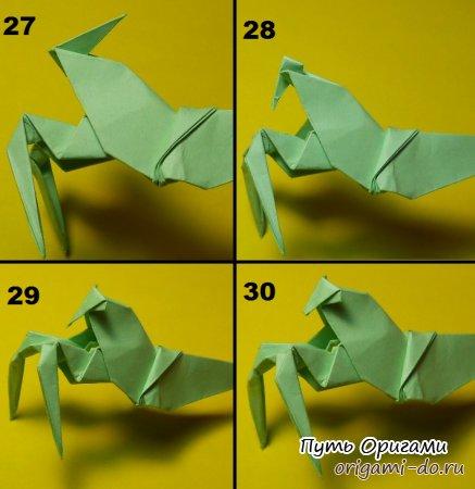 Богомол из оригами