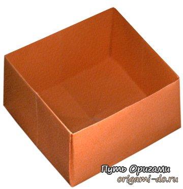 простой оригами коробочкой