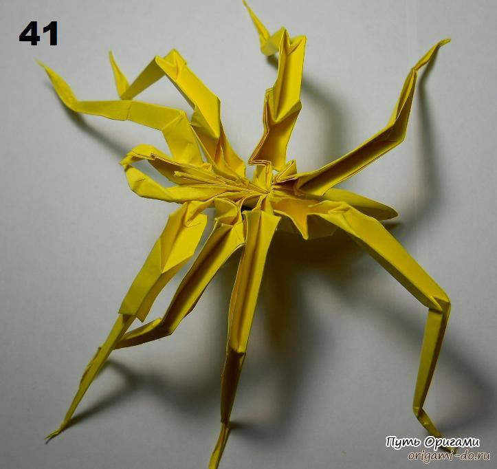 сборки оригами паука,