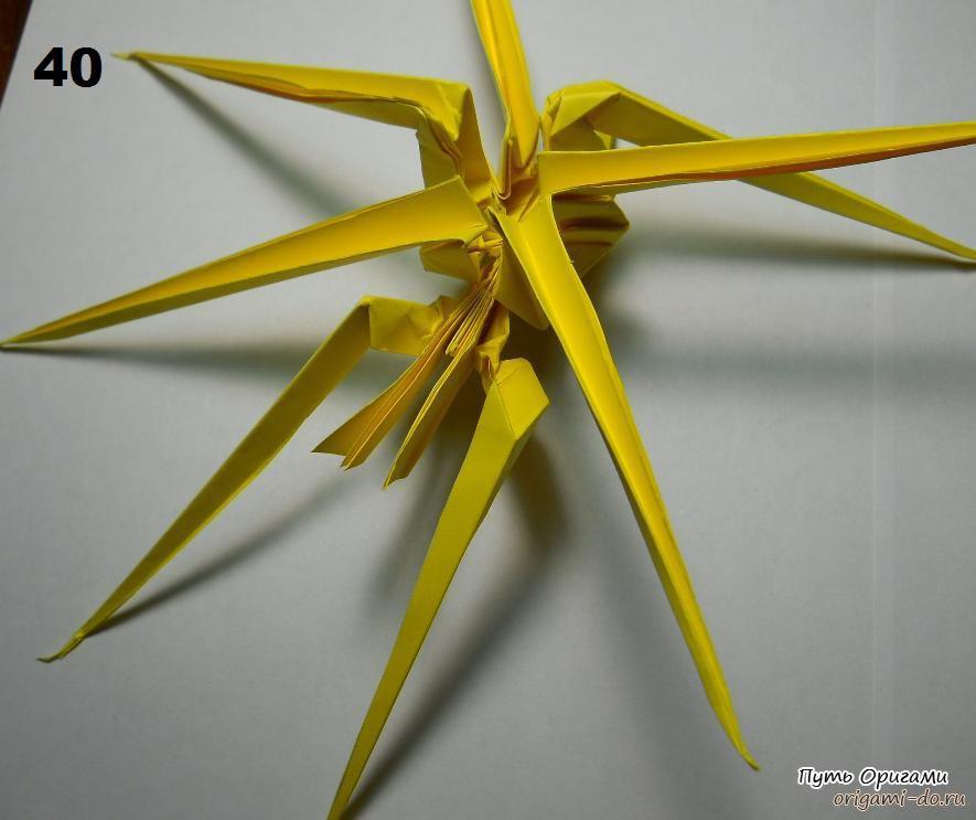 Оригами схема – паук