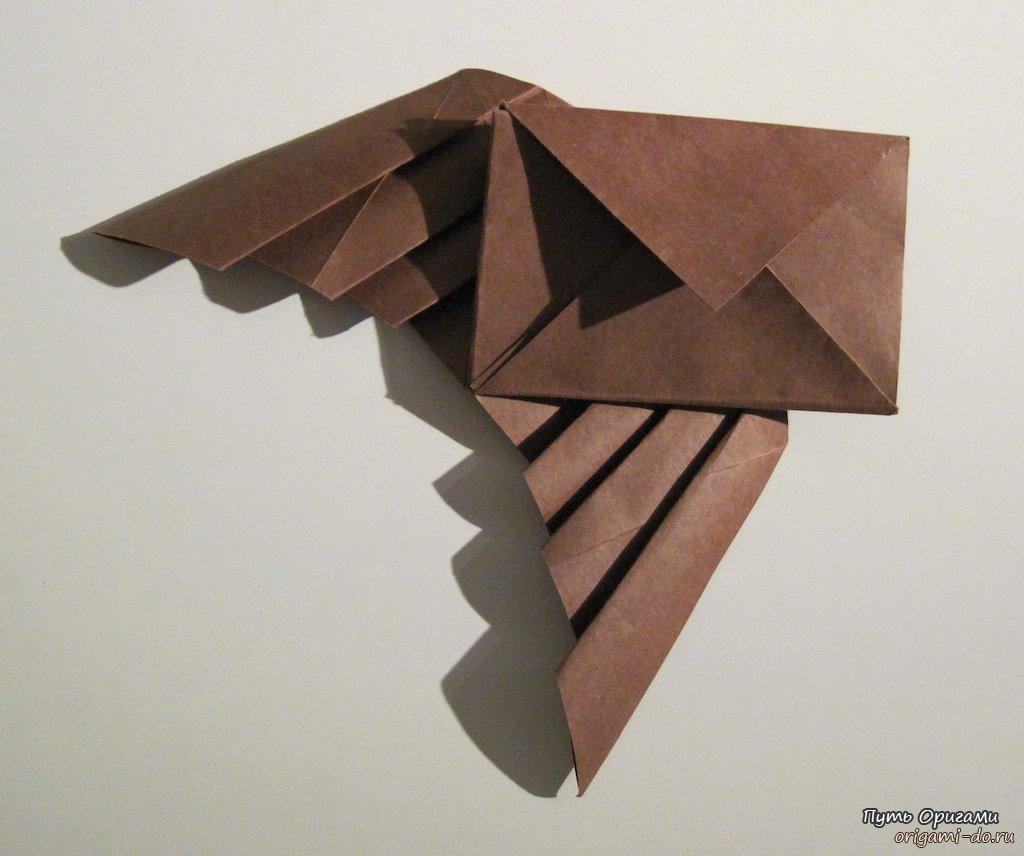 Оригами из бумаги конверт с крыльями за схемой Takashi Hojyo.