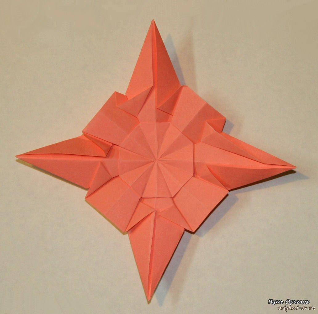 Как сделать объемную звезду из бумаги в технике 82