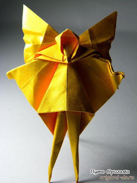 Оригами сборка феи - схема