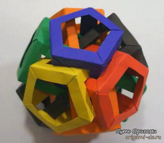 Кусудама Six Pentagonal Prism