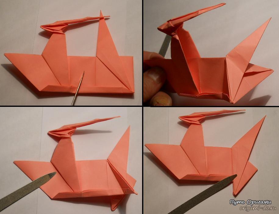 Как сделать оригами единорог