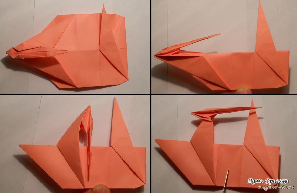 Оригами единорог – детальная