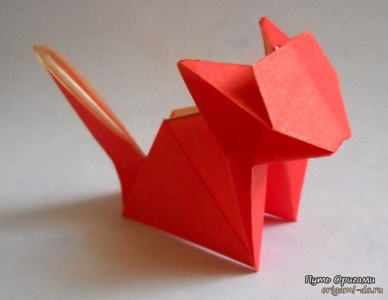 котенок в технике оригами