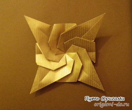 Звезда Розиты, оригами схема
