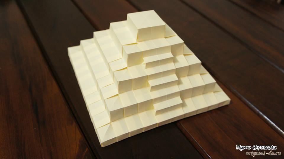 Пирамида оригами схема сборки видео.