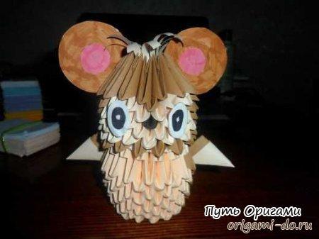 Модульное оригами мышонок