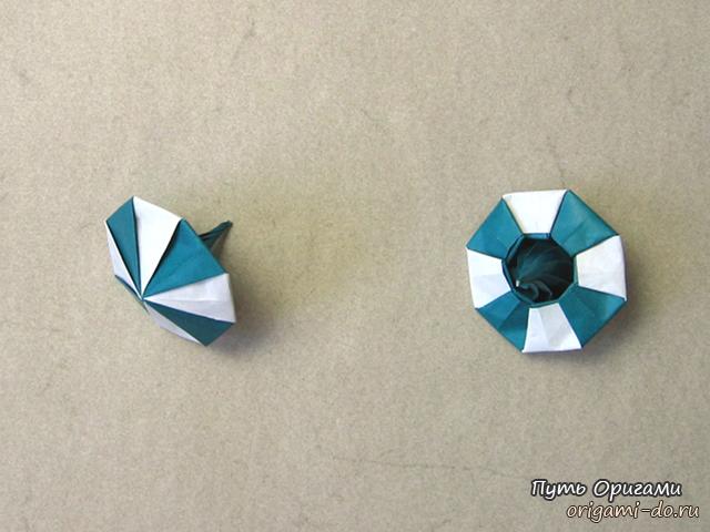 Забавная юла оригами