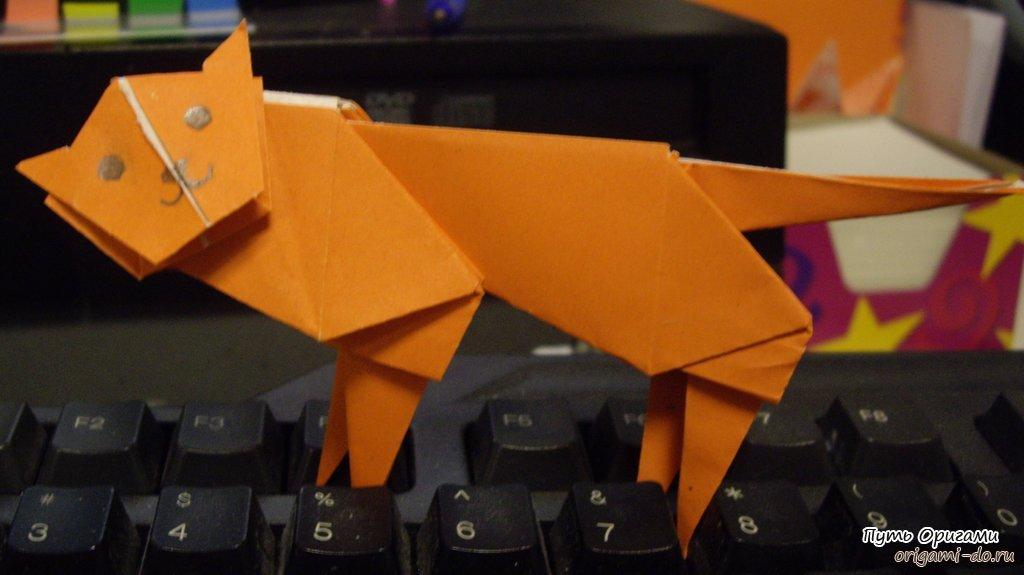 Оригами уссурийский тигр